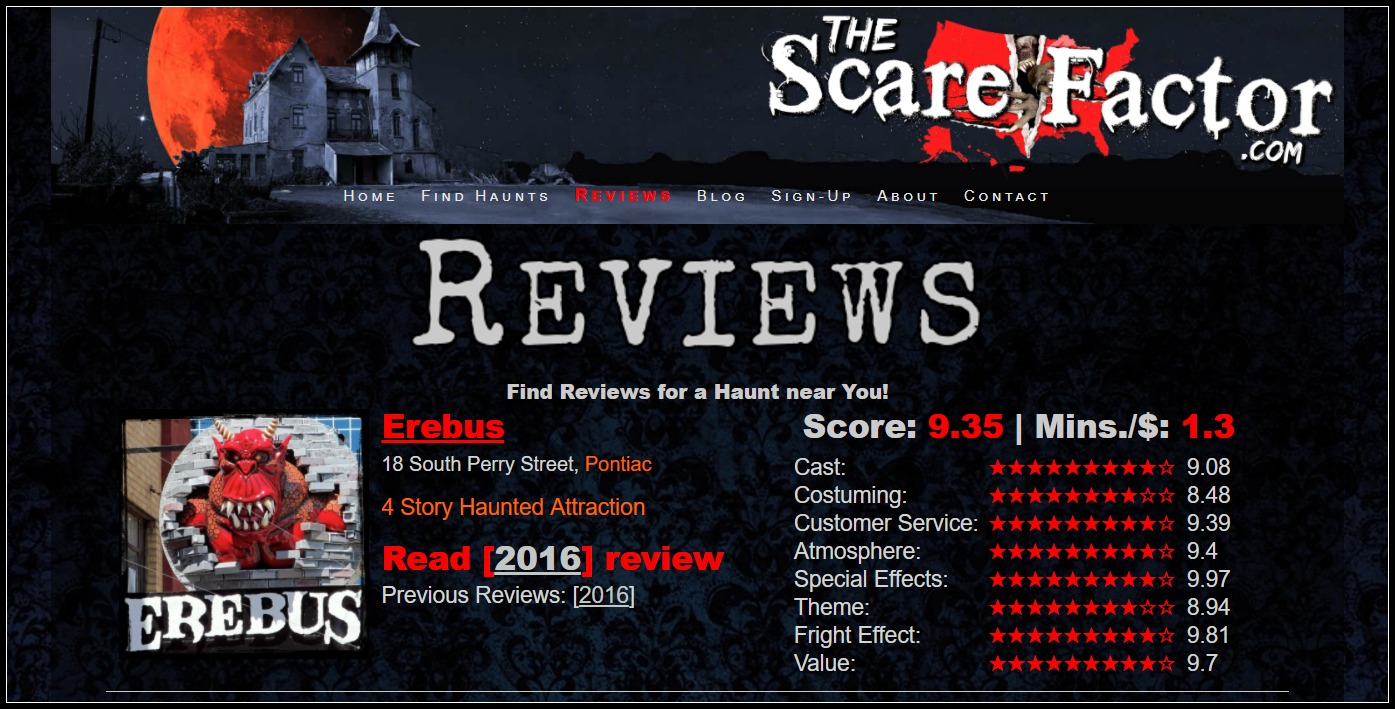 The Scare Factor Haunted Houses Reviews