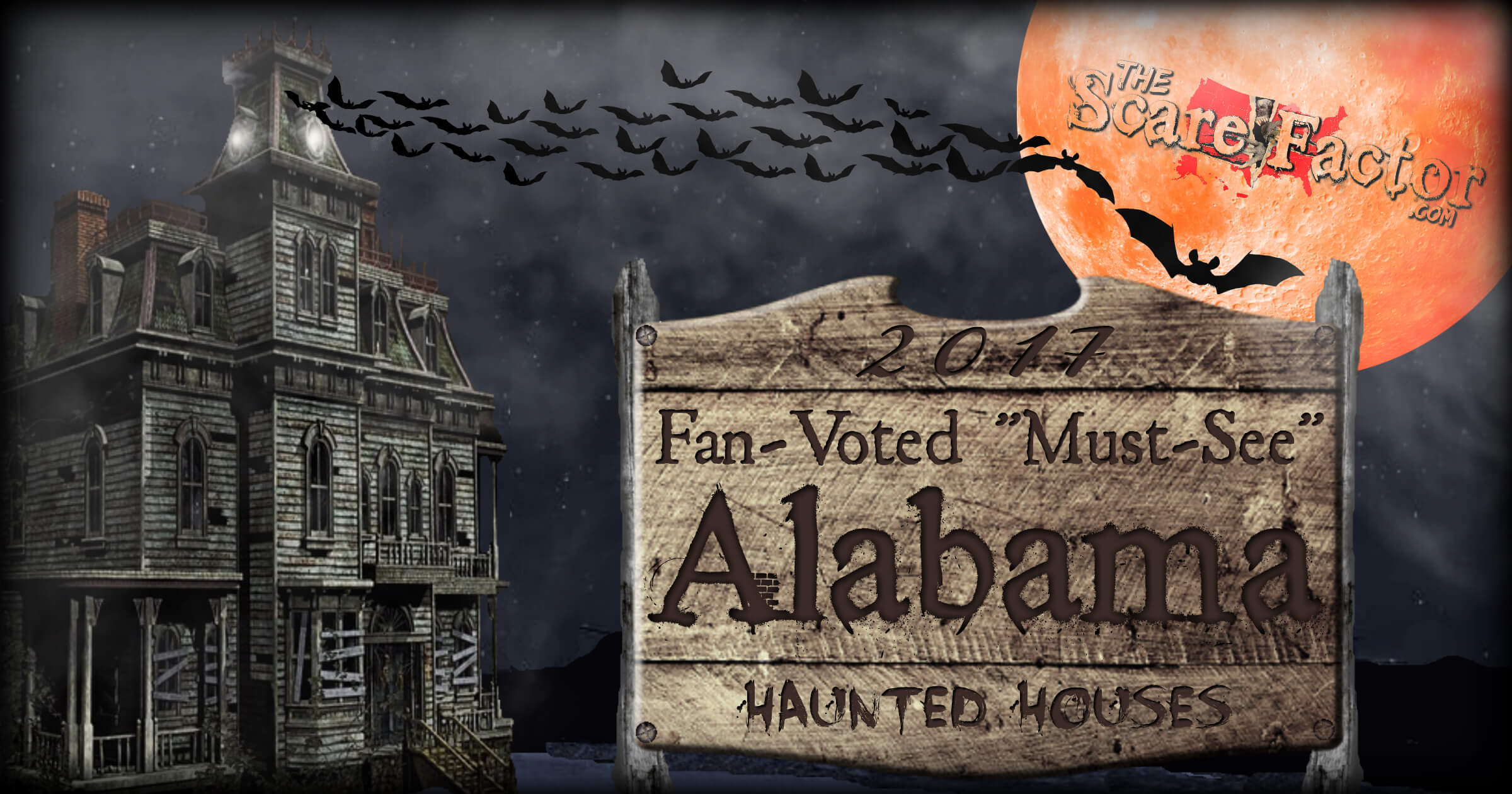 2017 top alabama haunted houses the scare factor - Halloween Attractions In Alabama