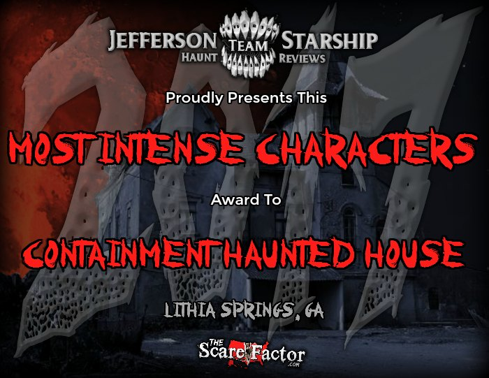 Most Intense Characters Award
