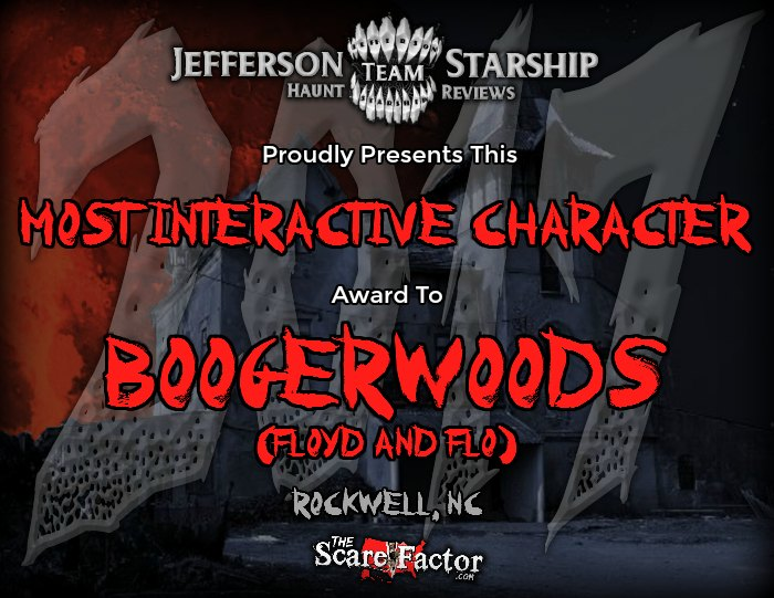 Most Interactive Character Award