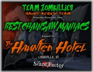 Best Chainsaw Maniacs Award