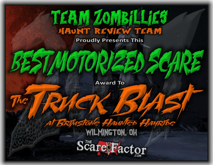 Best Motorized Scare Award