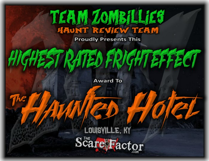 Highest Rated Fright Effect Award