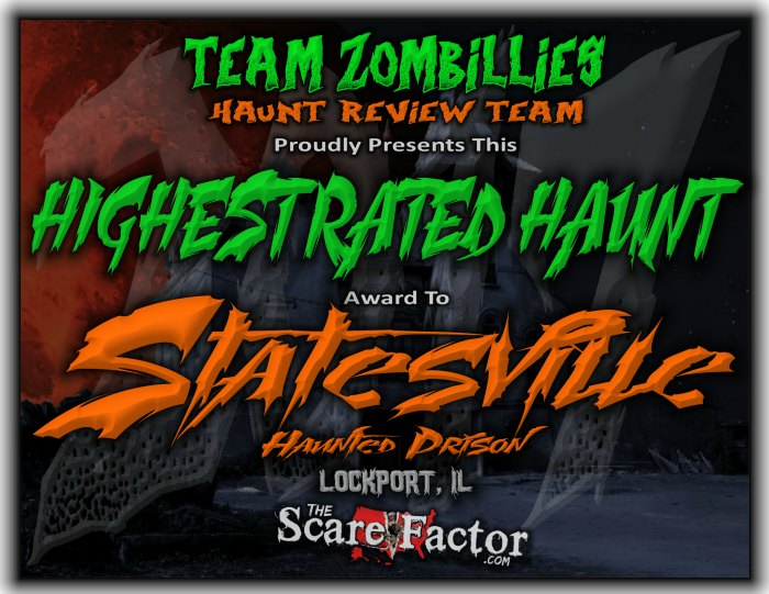 Highest Rated Haunt Award