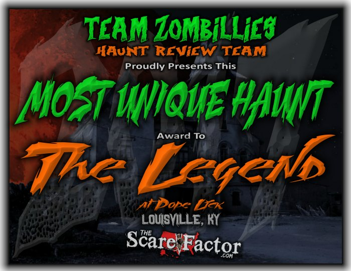 Most Unique Haunt Award