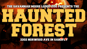 Haunted Forest Moose Lodge 1550