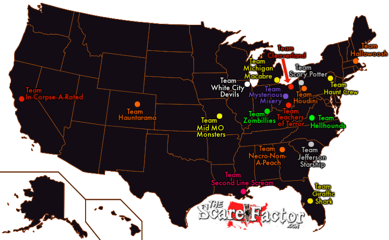 2019 Haunt Review Team Map