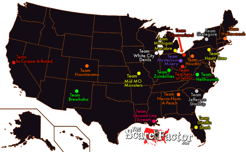The Scare Factor's Halloween Haunted House & Escape Room Review Teams