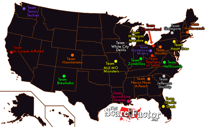 Haunt House Review Team Locations