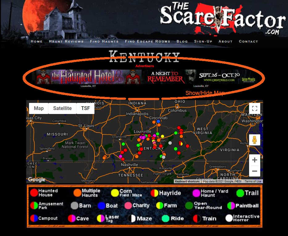 Banner Ads on The Scare Factor